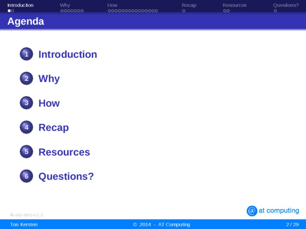 Introduction Why How Recap Resources Questions?...