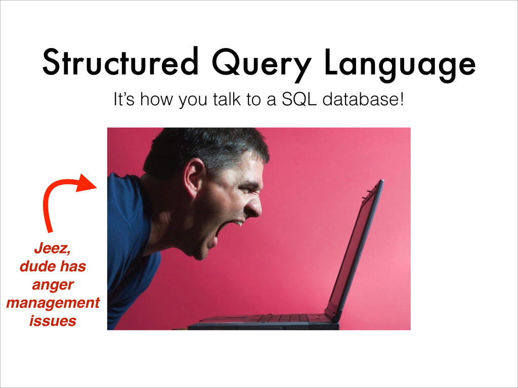 Structured Query Language It's how you talk to ...
