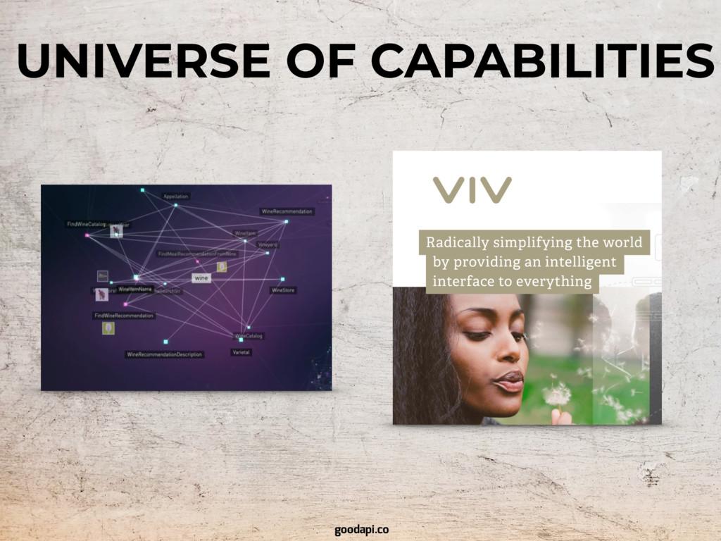 UNIVERSE OF CAPABILITIES goodapi.co