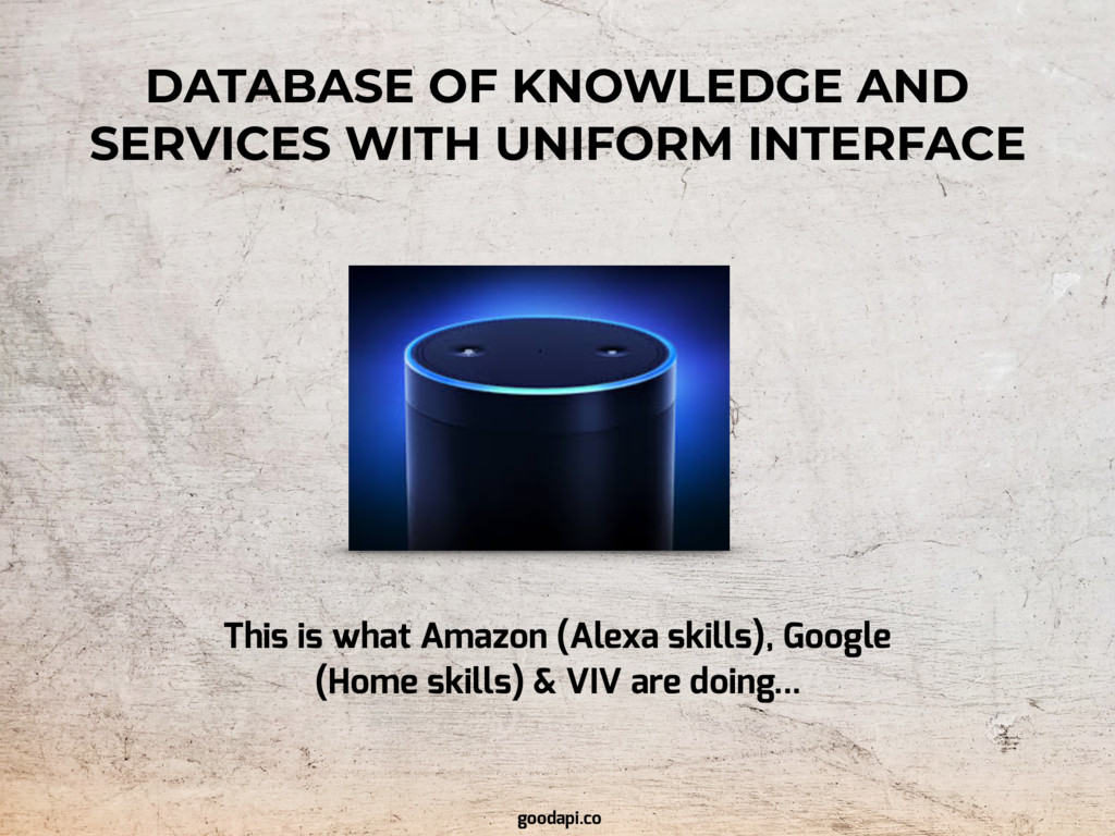 This is what Amazon (Alexa skills), Google (Hom...
