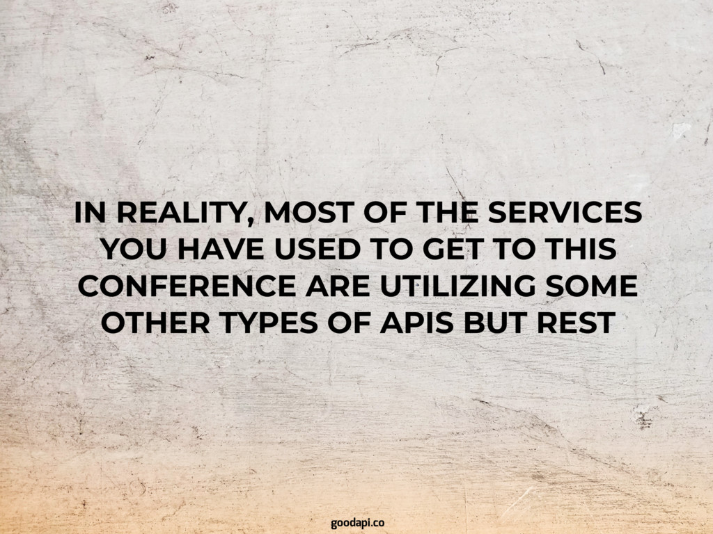 IN REALITY, MOST OF THE SERVICES YOU HAVE USED ...