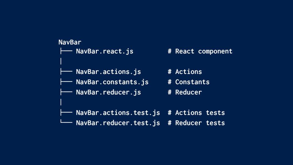 """NavBar !"""""""" NavBar.react.js # React component # ..."""