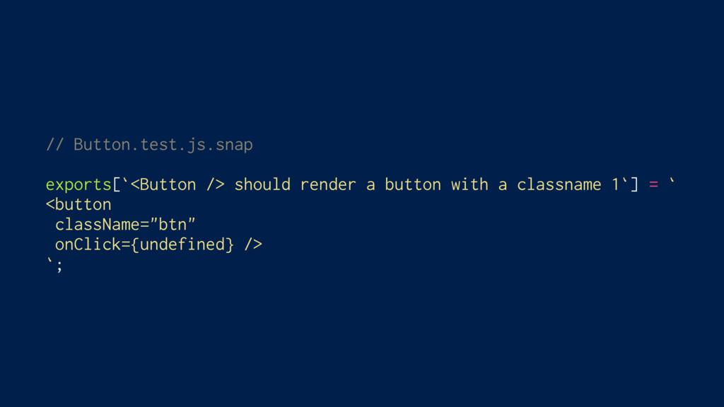 // Button.test.js.snap exports[`<Button /> shou...