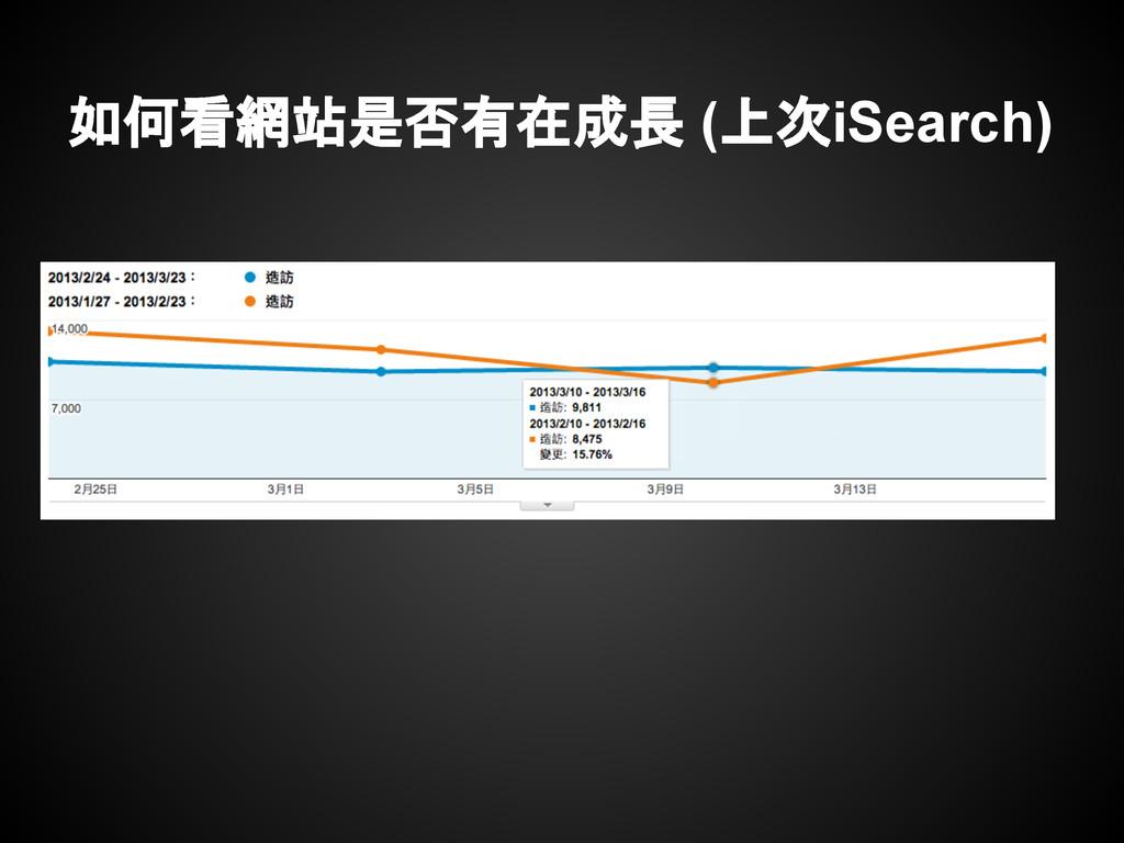如何看網站是否有在成長 (上次iSearch)