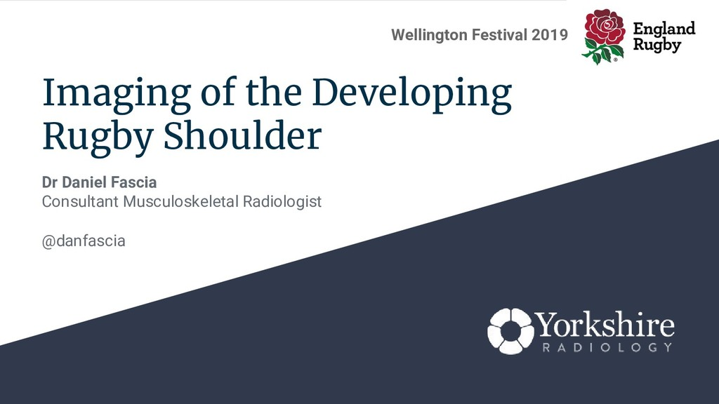 Imaging of the Developing Rugby Shoulder Dr Dan...