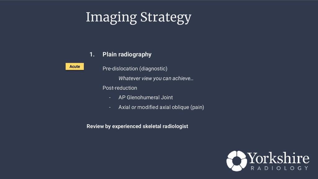 1. Plain radiography Pre-dislocation (diagnosti...
