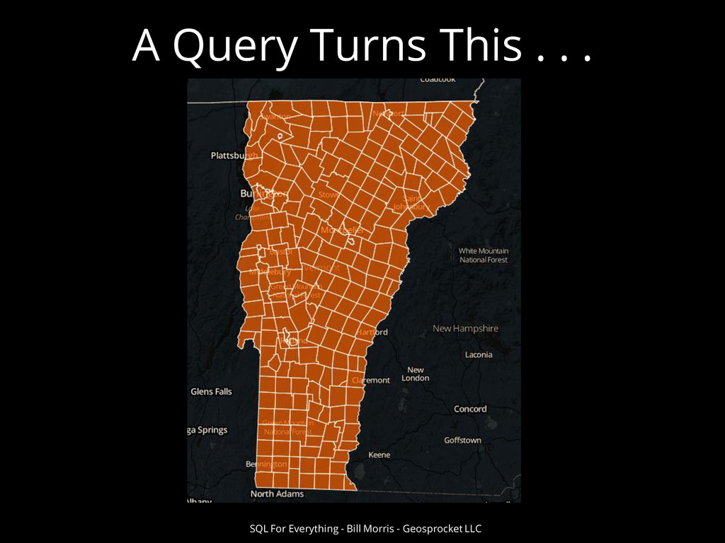 A Query Turns This . . . SQL For Everything - B...