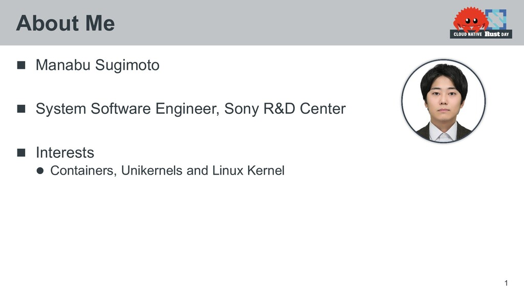  Manabu Sugimoto  System Software Engineer, S...