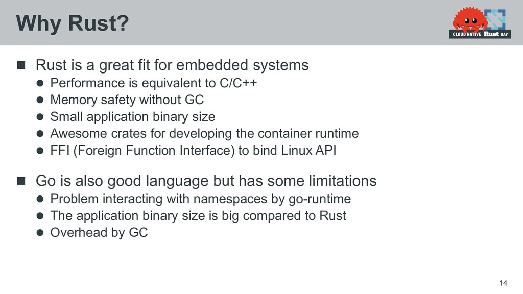 Rust is a great fit for embedded systems  Pe...