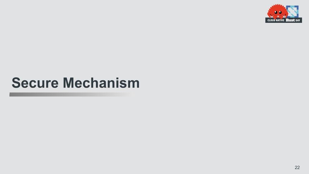 Secure Mechanism 22