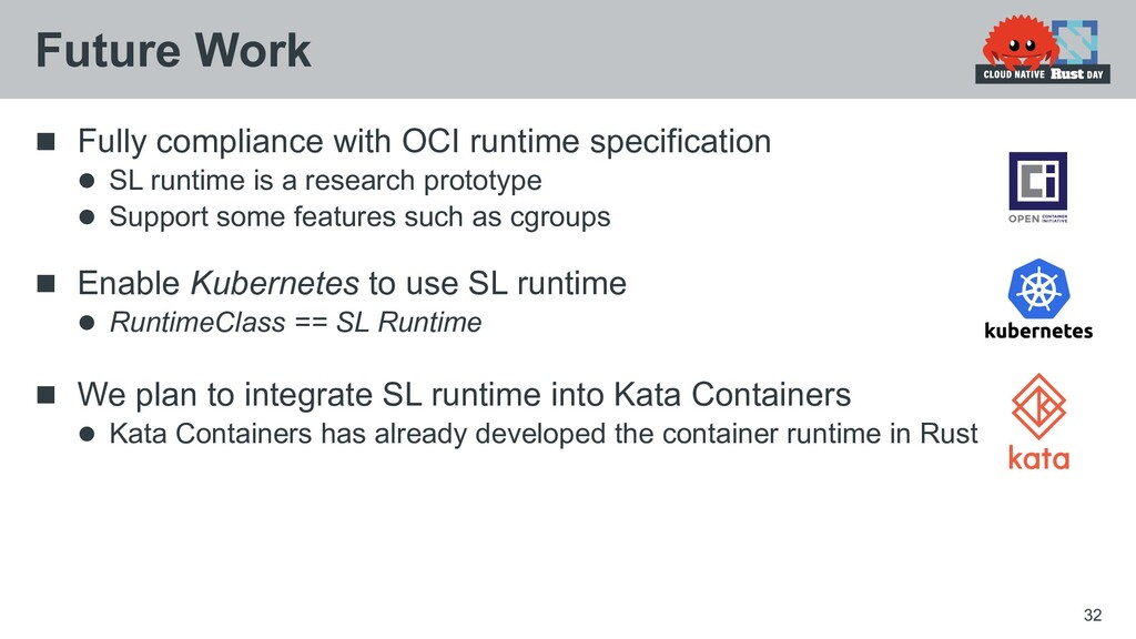  Fully compliance with OCI runtime specificati...
