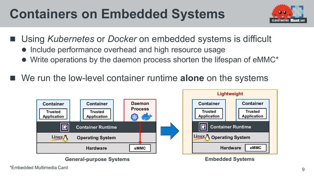  Using Kubernetes or Docker on embedded system...