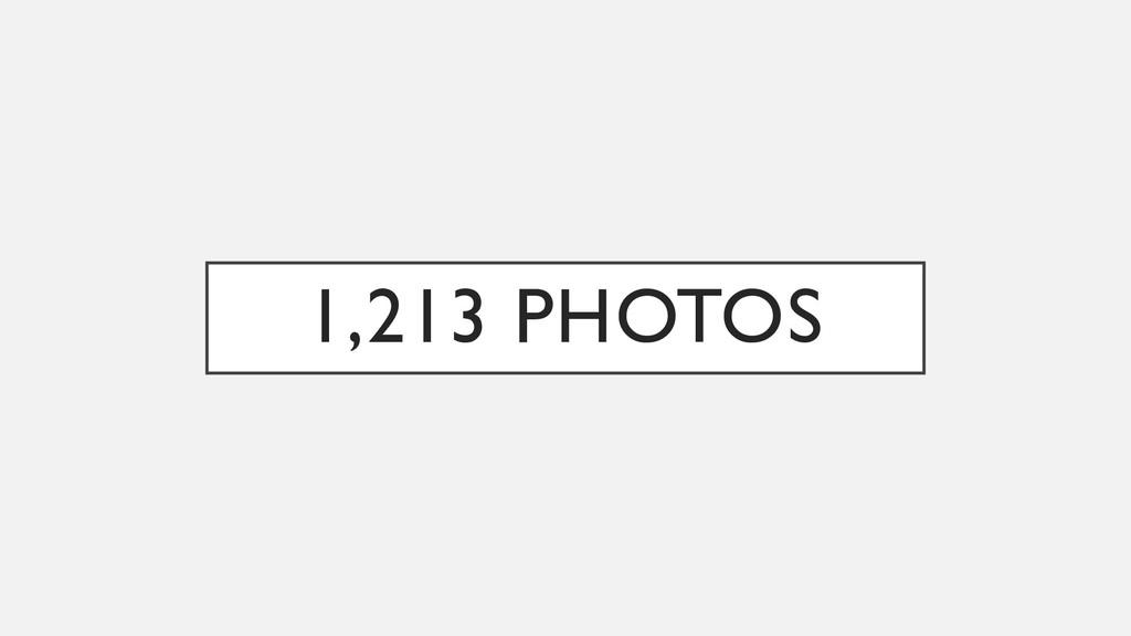 1,213 PHOTOS