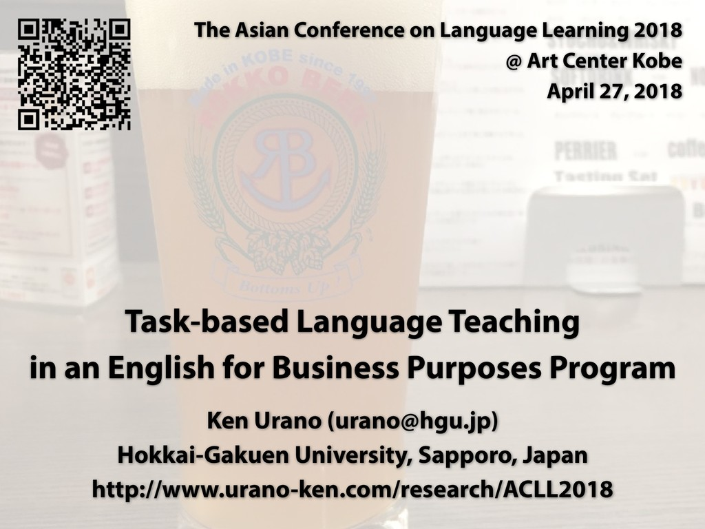 Task-based Language Teaching in an English for ...