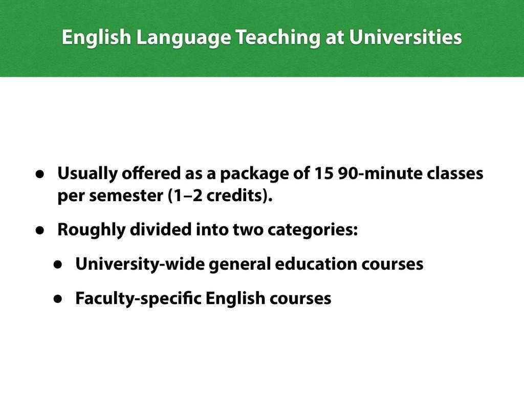 English Language Teaching at Universities • Usu...