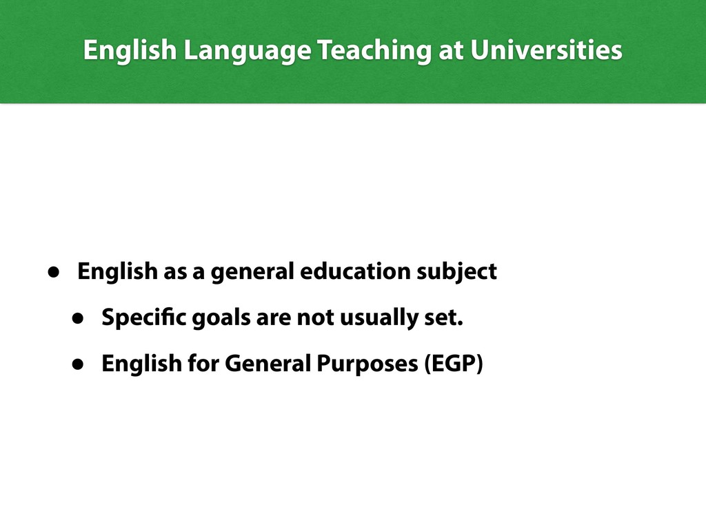 English Language Teaching at Universities • Eng...