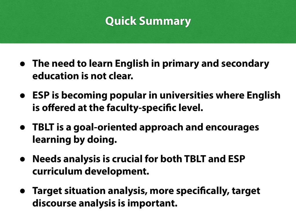 Quick Summary • The need to learn English in pr...