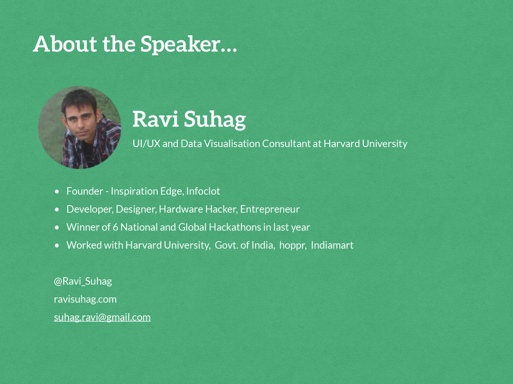 Ravi Suhag UI/UX and Data Visualisation Consult...