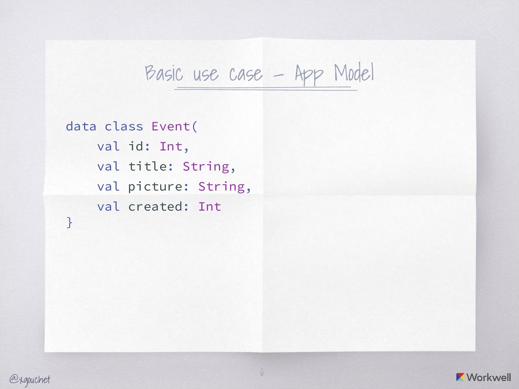 @xgouchet Basic use case — App Model data class...