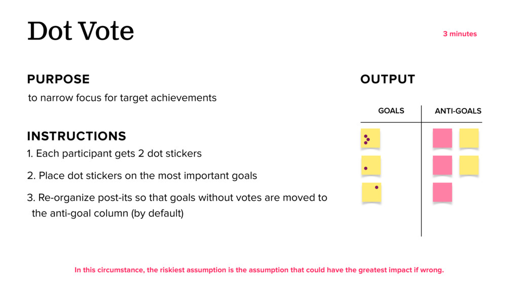 GOALS ANTI-GOALS to narrow focus for target ach...