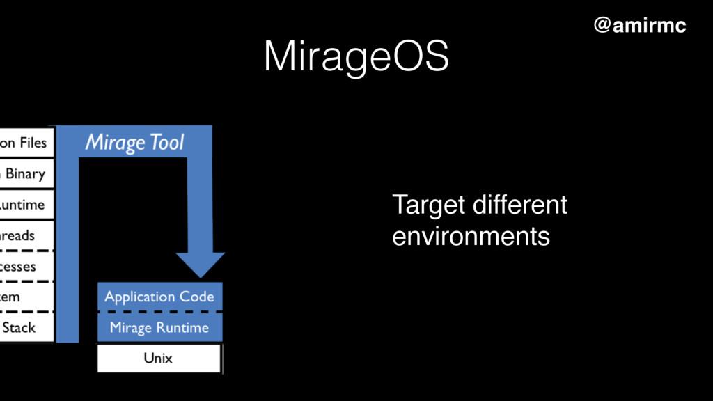 MirageOS @amirmc Target different environments