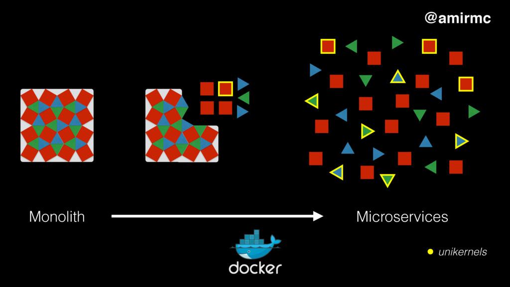 Monolith Microservices unikernels @amirmc