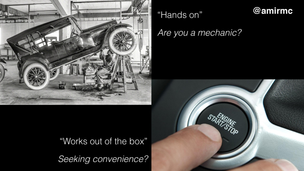 """""""Hands on"""" Are you a mechanic? """"Works out of th..."""