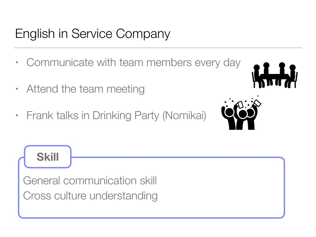 English in Service Company • Communicate with t...
