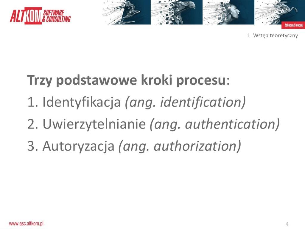 4 Trzy podstawowe kroki procesu: 1. Identyfikac...