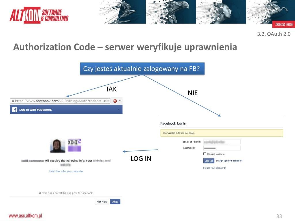 33 Authorization Code – serwer weryfikuje upraw...
