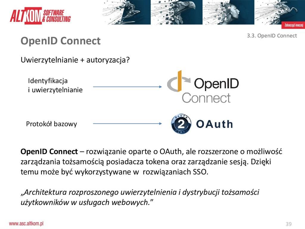 39 OpenID Connect Uwierzytelnianie + autoryzacj...
