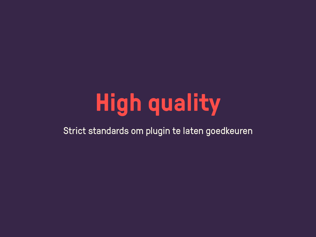 High quality Strict standards om plugin te late...