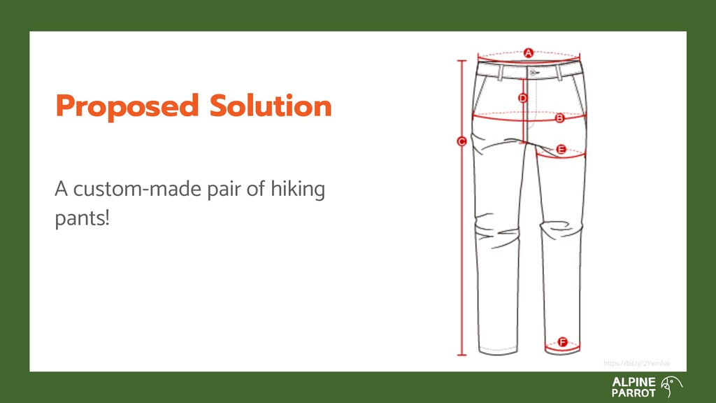Proposed Solution A custom-made pair of hiking ...