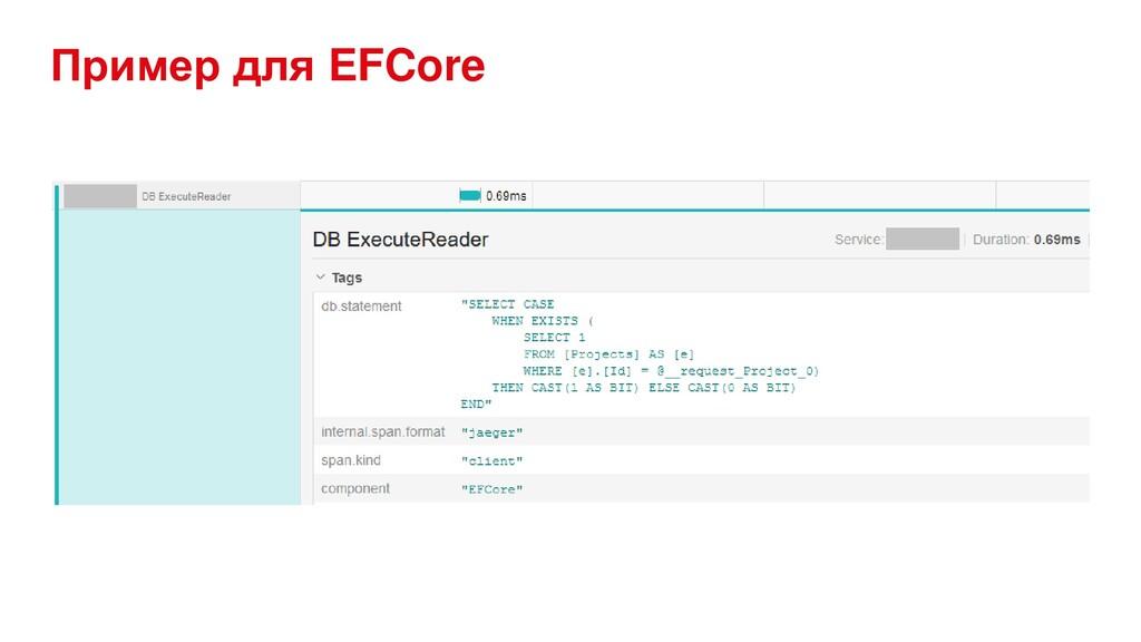Пример для EFCore