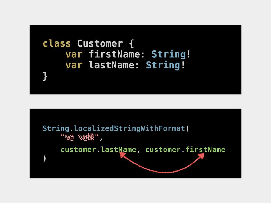 class Customer { var firstName: String! var las...