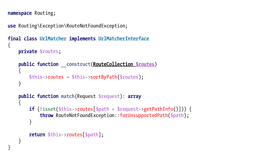 namespace Routing; use Routing\Exception\RouteN...
