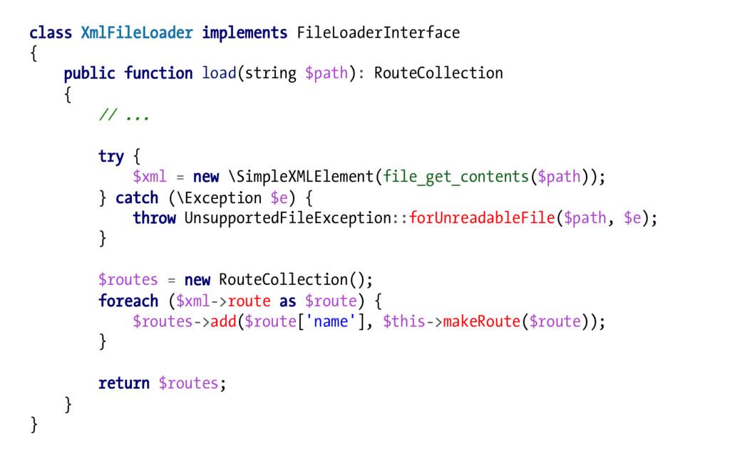 class XmlFileLoader implements FileLoaderInterf...