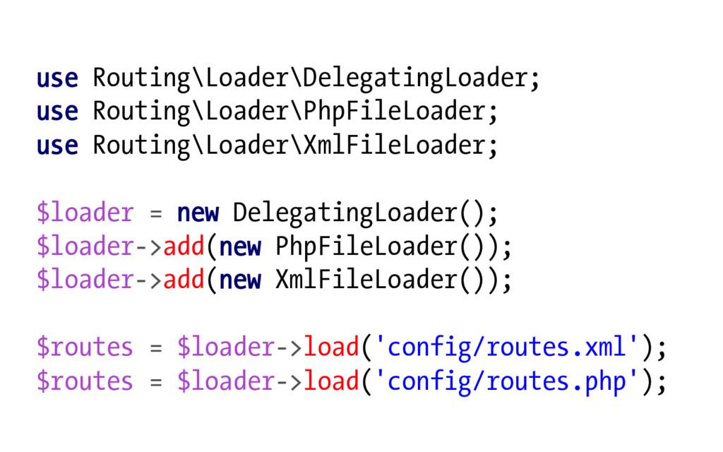 use Routing\Loader\DelegatingLoader; use Routin...