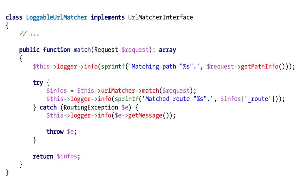 class LoggableUrlMatcher implements UrlMatcherI...