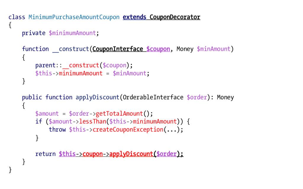 class MinimumPurchaseAmountCoupon extends Coupo...