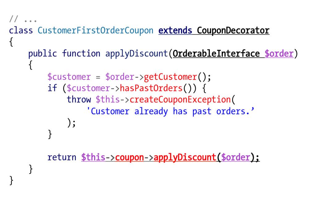 // ... class CustomerFirstOrderCoupon extends C...