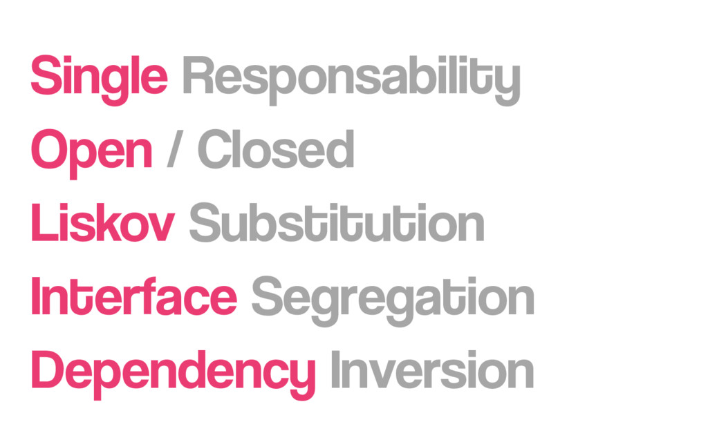 Single Responsability Open / Closed Liskov Subs...
