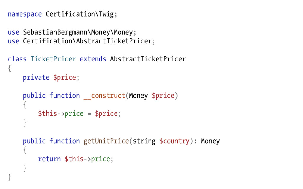 namespace Certification\Twig; use SebastianBerg...