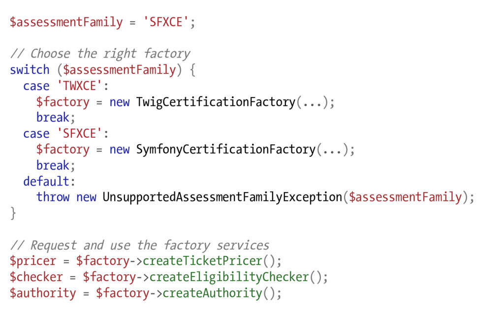 $assessmentFamily = 'SFXCE'; // Choose the righ...