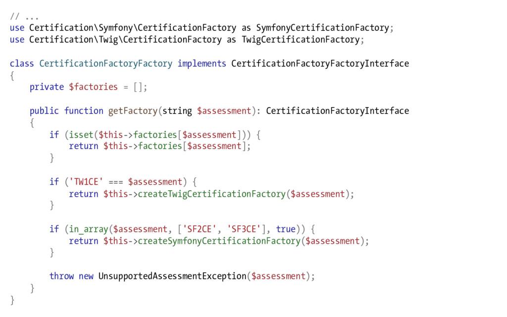 // ... use Certification\Symfony\CertificationF...
