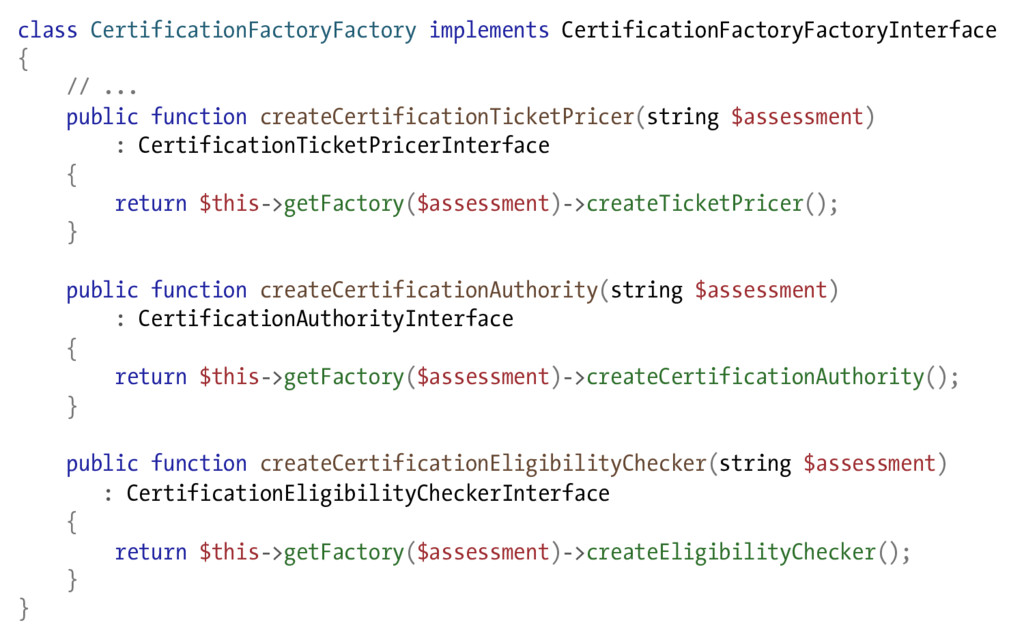 class CertificationFactoryFactory implements Ce...
