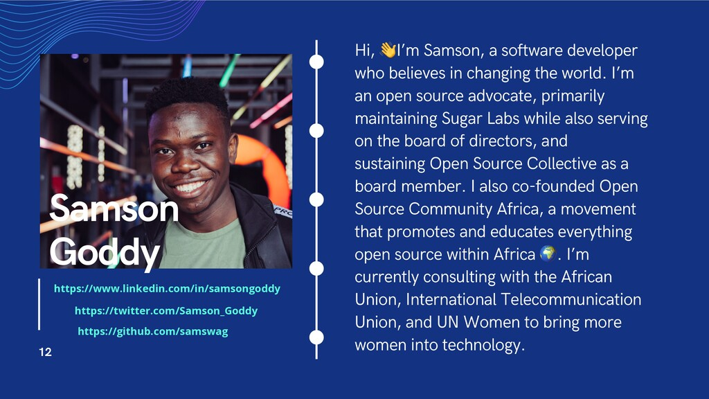 Hi, !I'm Samson, a software developer who belie...