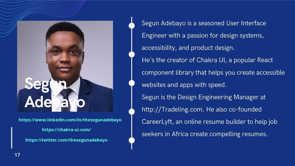 Segun Adebayo is a seasoned User Interface Engi...