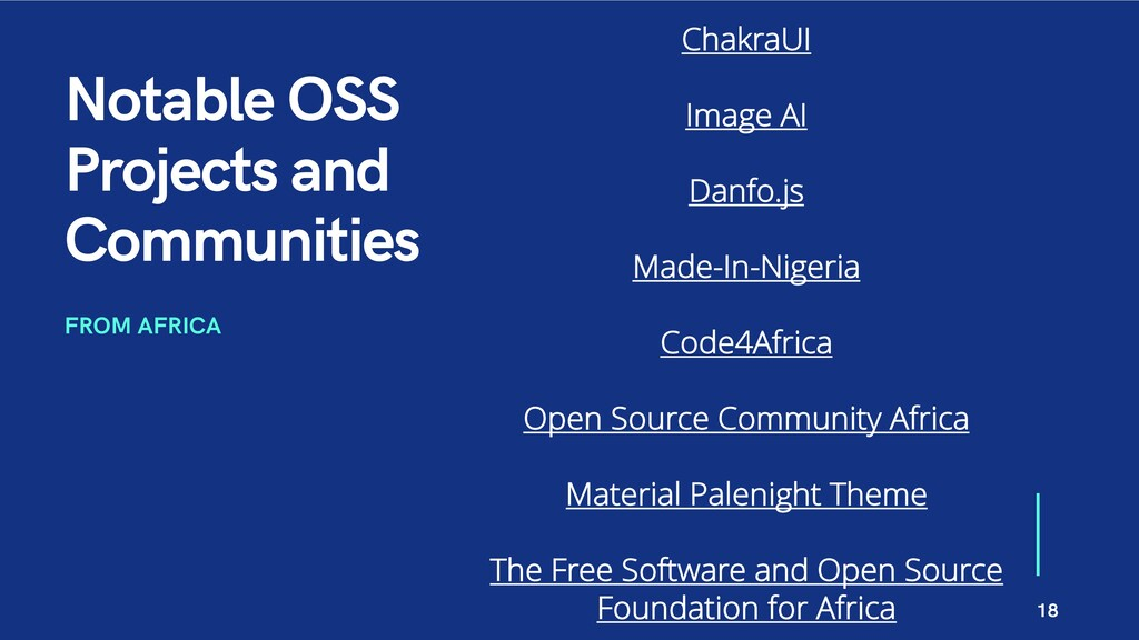 Notable OSS Projects and Communities FROM AFRIC...