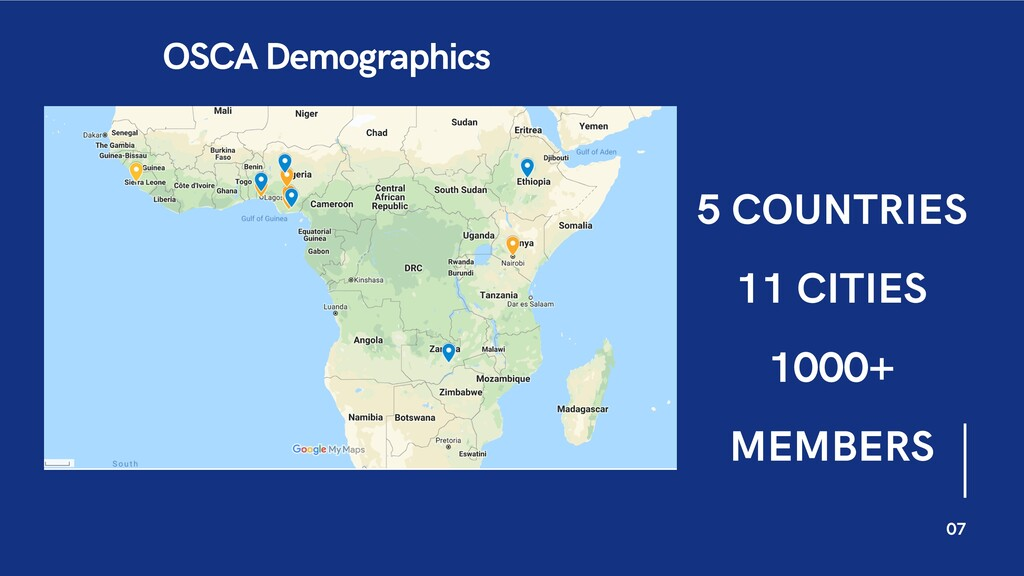07 OSCA Demographics 5 COUNTRIES 11 CITIES 1000...